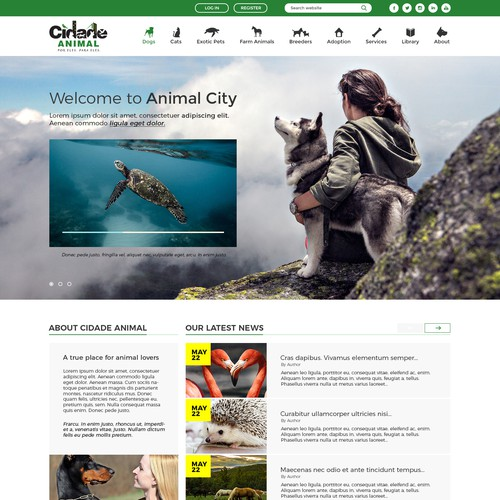Web design for animal lovers
