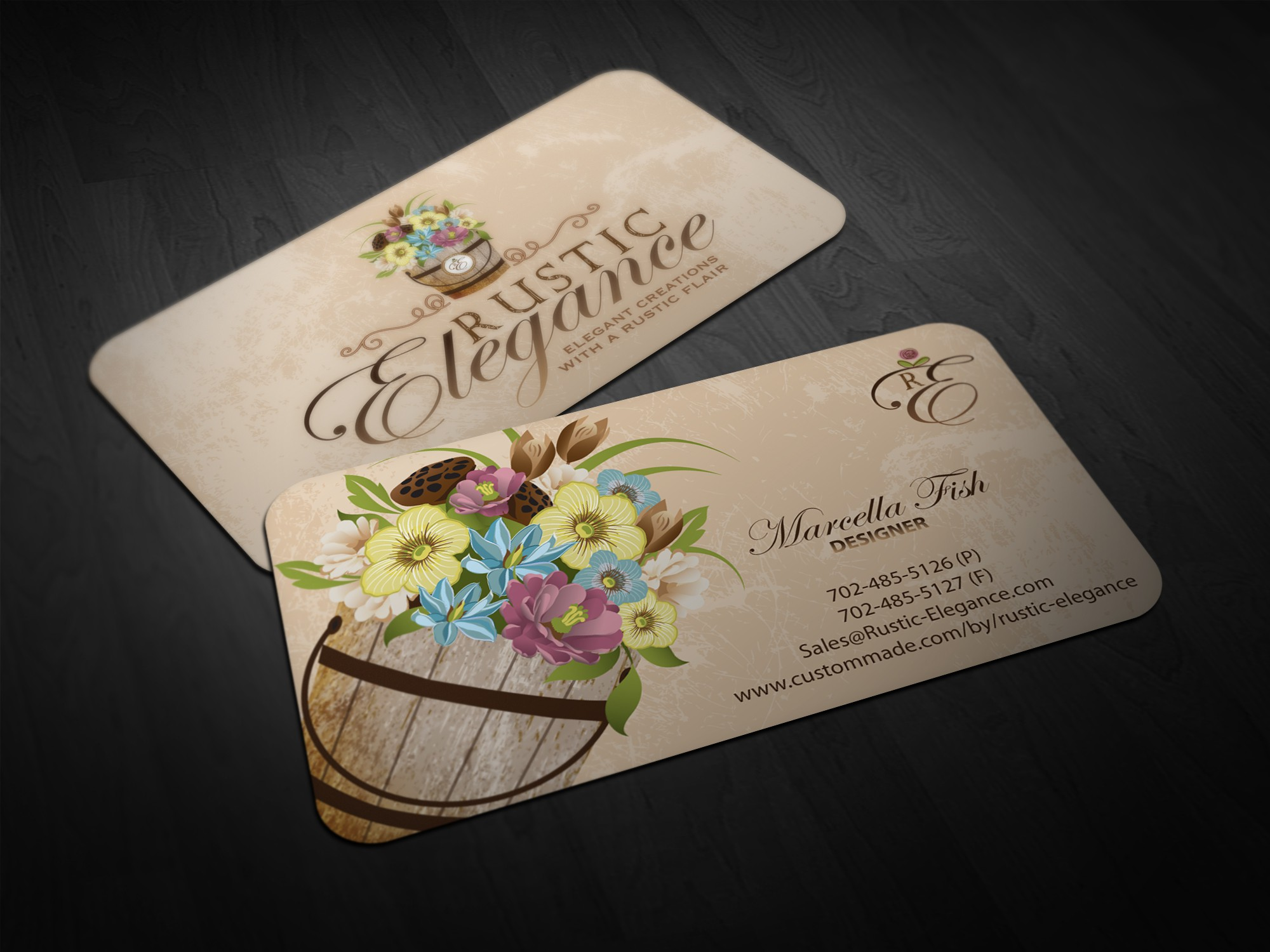 stationery for Rustic Elegance