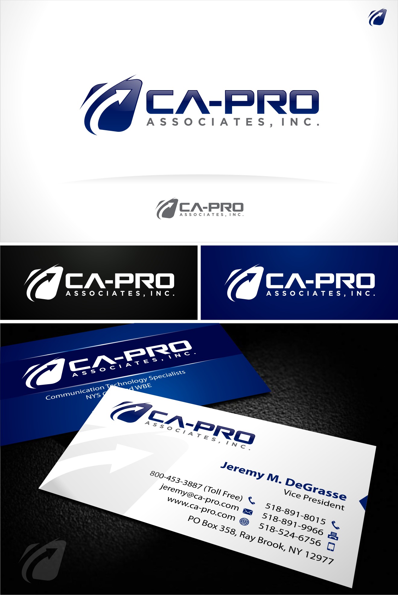 Help a small company go big!  Ca-Pro needs a new logo and business card