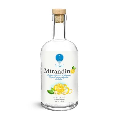 Labels for Lemon and Basil Liquor
