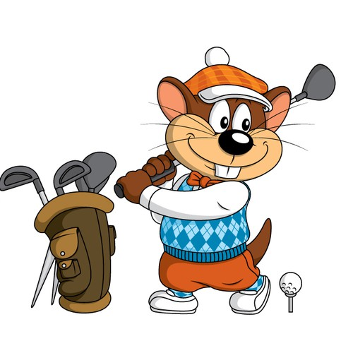 Mascot design for Gopher's Golf