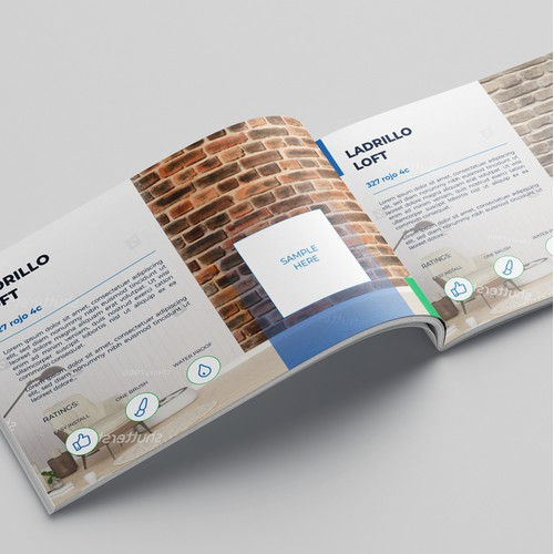 Brochure for wall coverings manufacturer