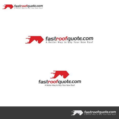 Modern , Flat logo design for fastroofquote.com