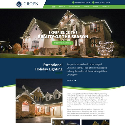 Holiday Lighting By Groen Landscape