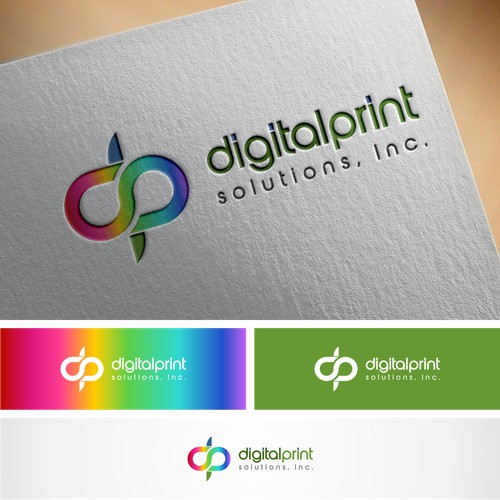 digital print solustions logo designs