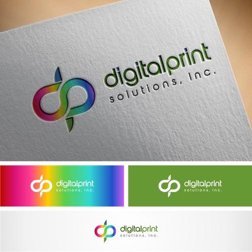 digital print solustions logo designs