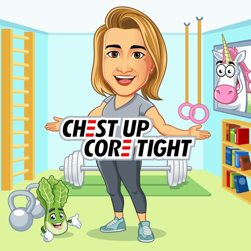 CHEST UP CORE TIGHT design logo
