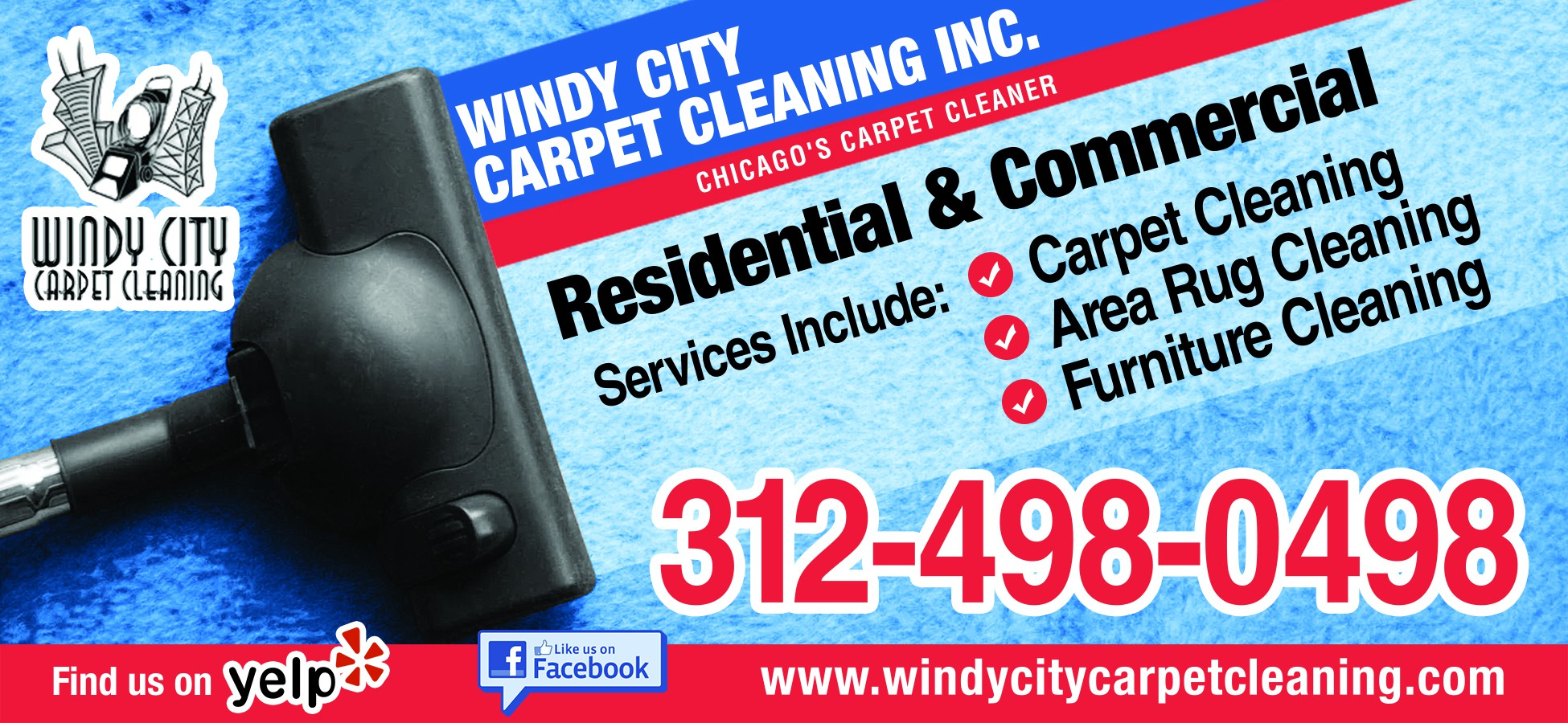 Windy City Carpet Cleaning print ad