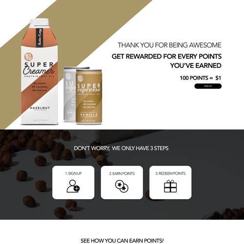 Rewards Page for SuperCoffee