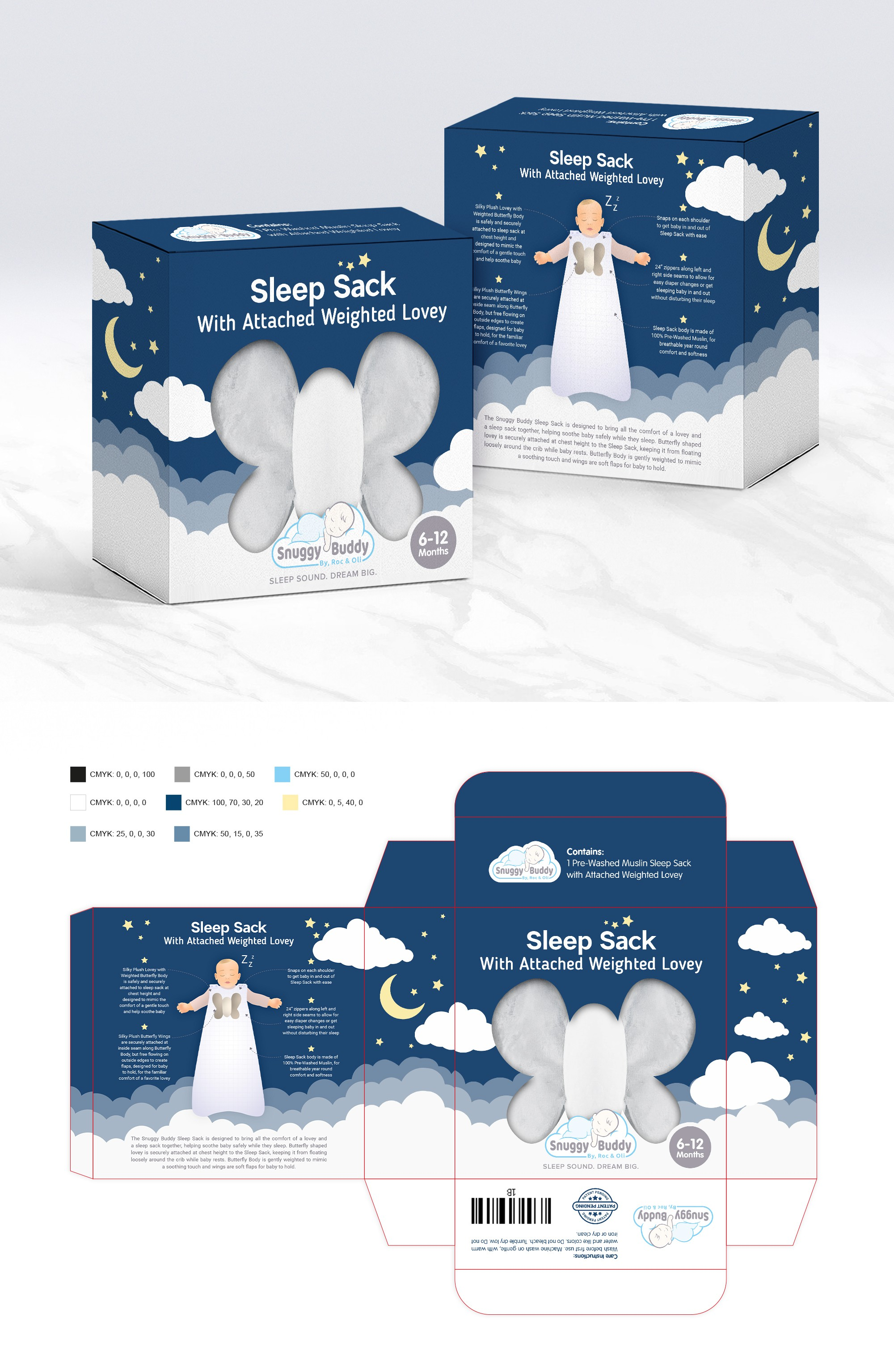 Looking for the perfect packaging design to help change the baby sleep market
