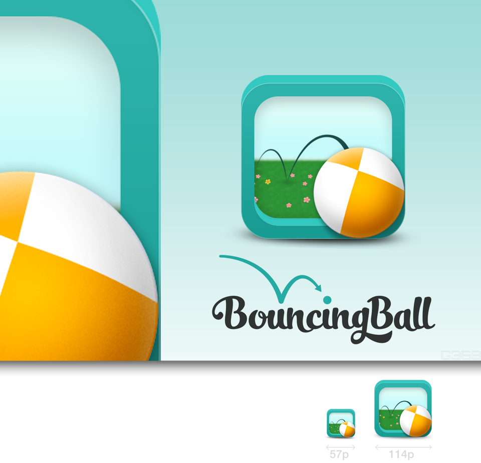 Help Bouncing Ball with a new icon or button design
