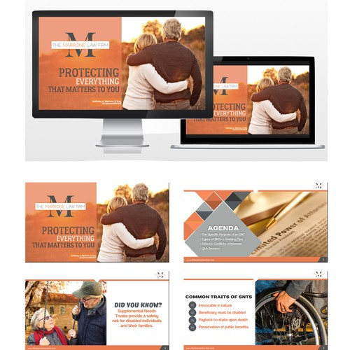 Presentation design for a Law Firm Company