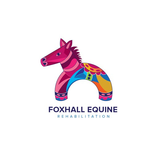 Foxhall Equine Rehabilitation logo design  for a rehabilitation center for horses.