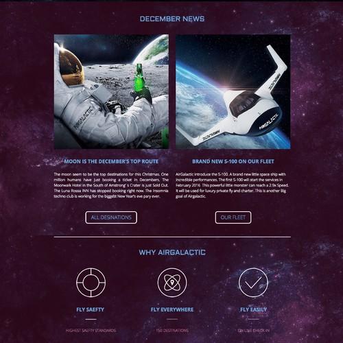Air Galactic Jimdo Website
