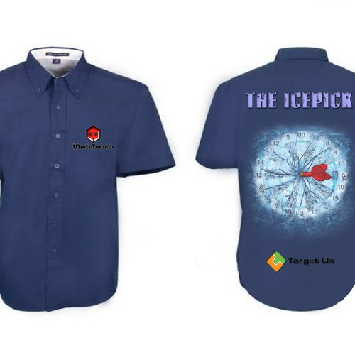 Create the first custom shirt for Professional dart player The Icepick