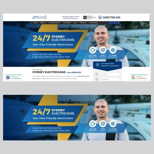 Electrician website main slider