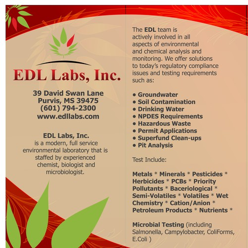 Banner ad for EDL Labs, Inc.