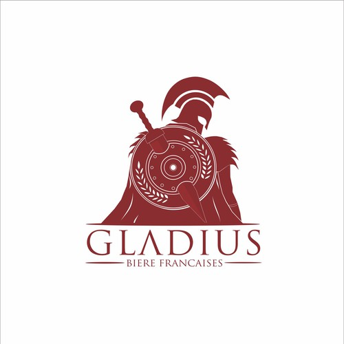 Gladiator for the beverage brand icon