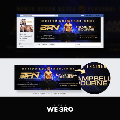 facebook banner for a Personal Trainer and muay thai coach