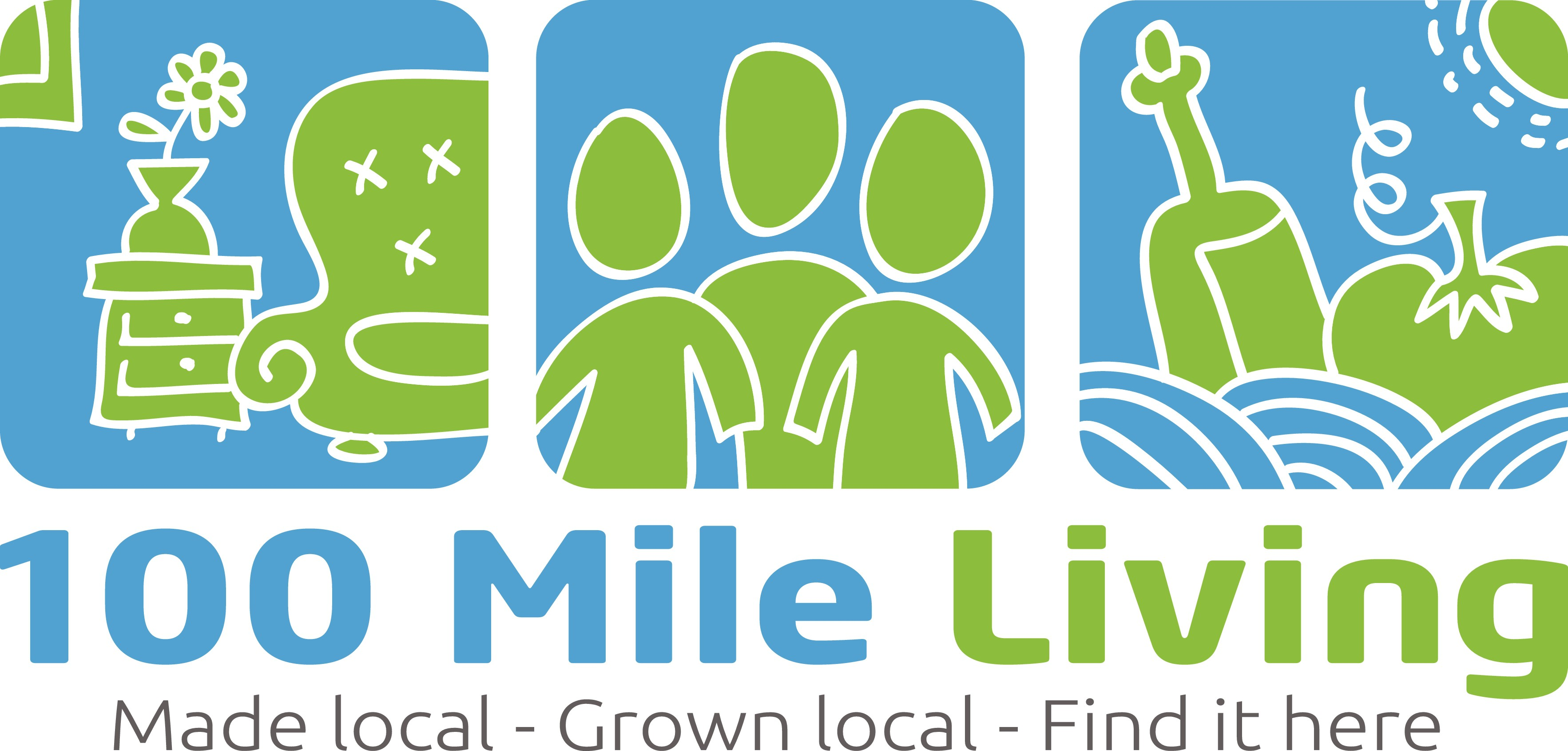 Create logo for 100 Mile Living, a website for consumers to find locally produced products