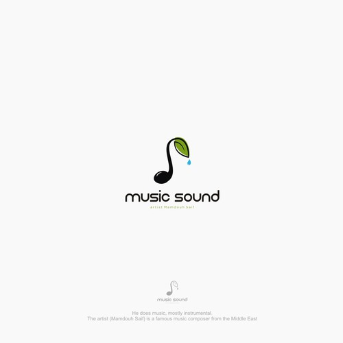 Create an artistic music company logo