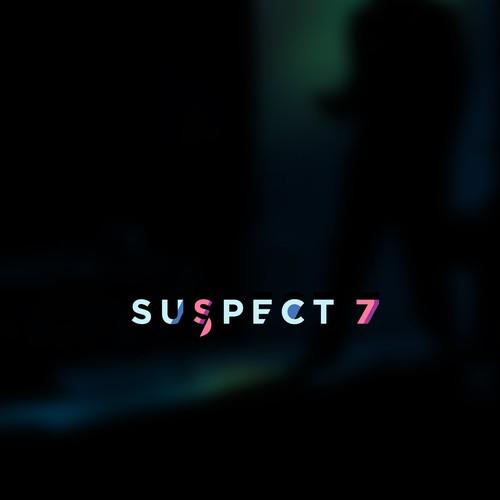 Noir style logo for Suspect 7, an animation studio