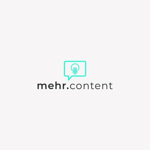 Mehr.Content Logo Design
