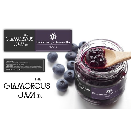 The Glamorous Jam Co. product label