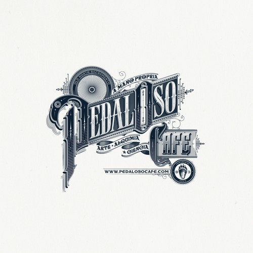 Pedal Oso Cafe - Logo