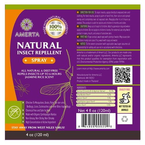 Insect repellent label