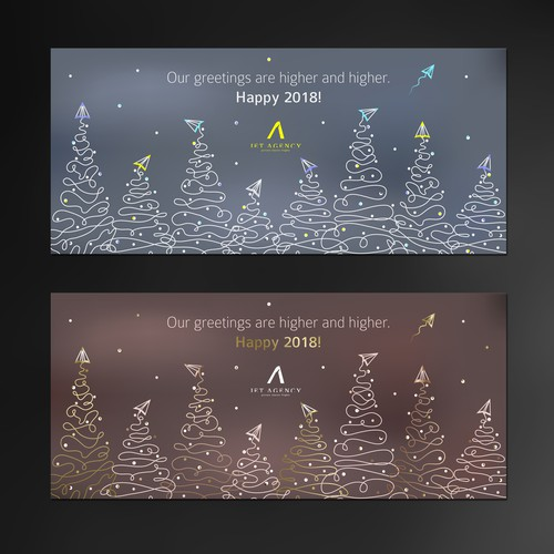 Stylish and classy Holiday Card for Jet Agency