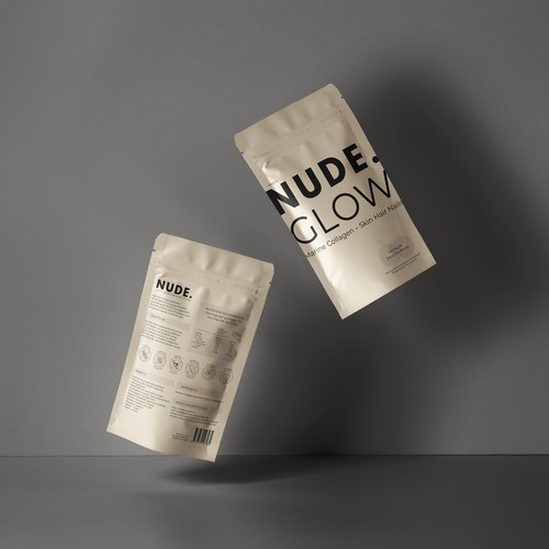 Packaging for NUDE. Glow Collagen