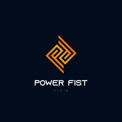 Logo concept for Power Fist Superhero