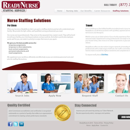 ReadyNurse needs a new website design