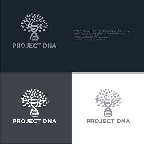 Strong and bold logo concept for Project DNA.