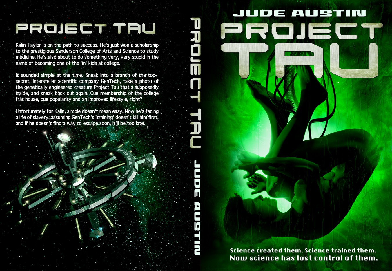 Cover for sci-fi ebook set in a scientific facility