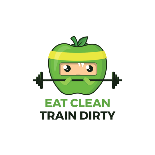 logo concept for eat clean train dirty