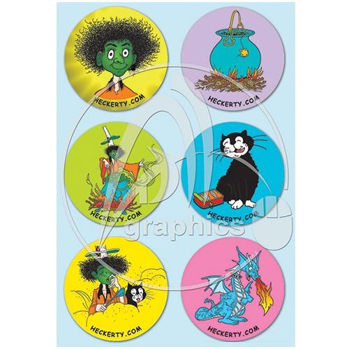 Sticker designs for Heckerty