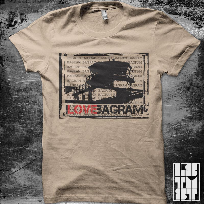 Create the next t-shirt design for I Love Bagram