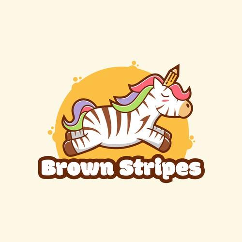Brown stripes logo