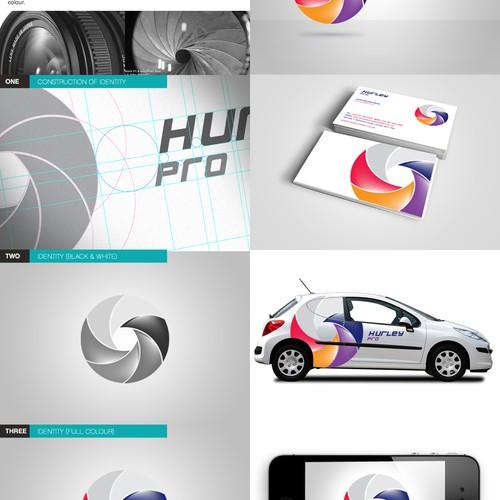 Colourful logo concept for a photographer