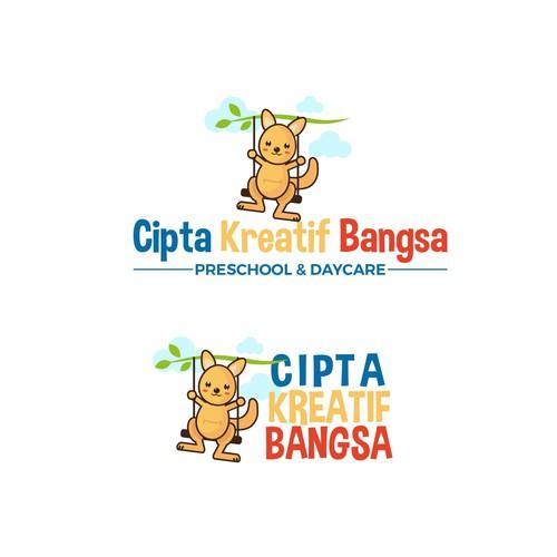 Beautiful playful logo for the preschool