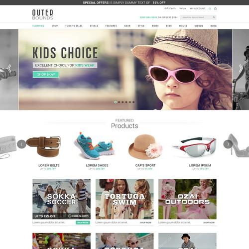 Website design for OuterBounds