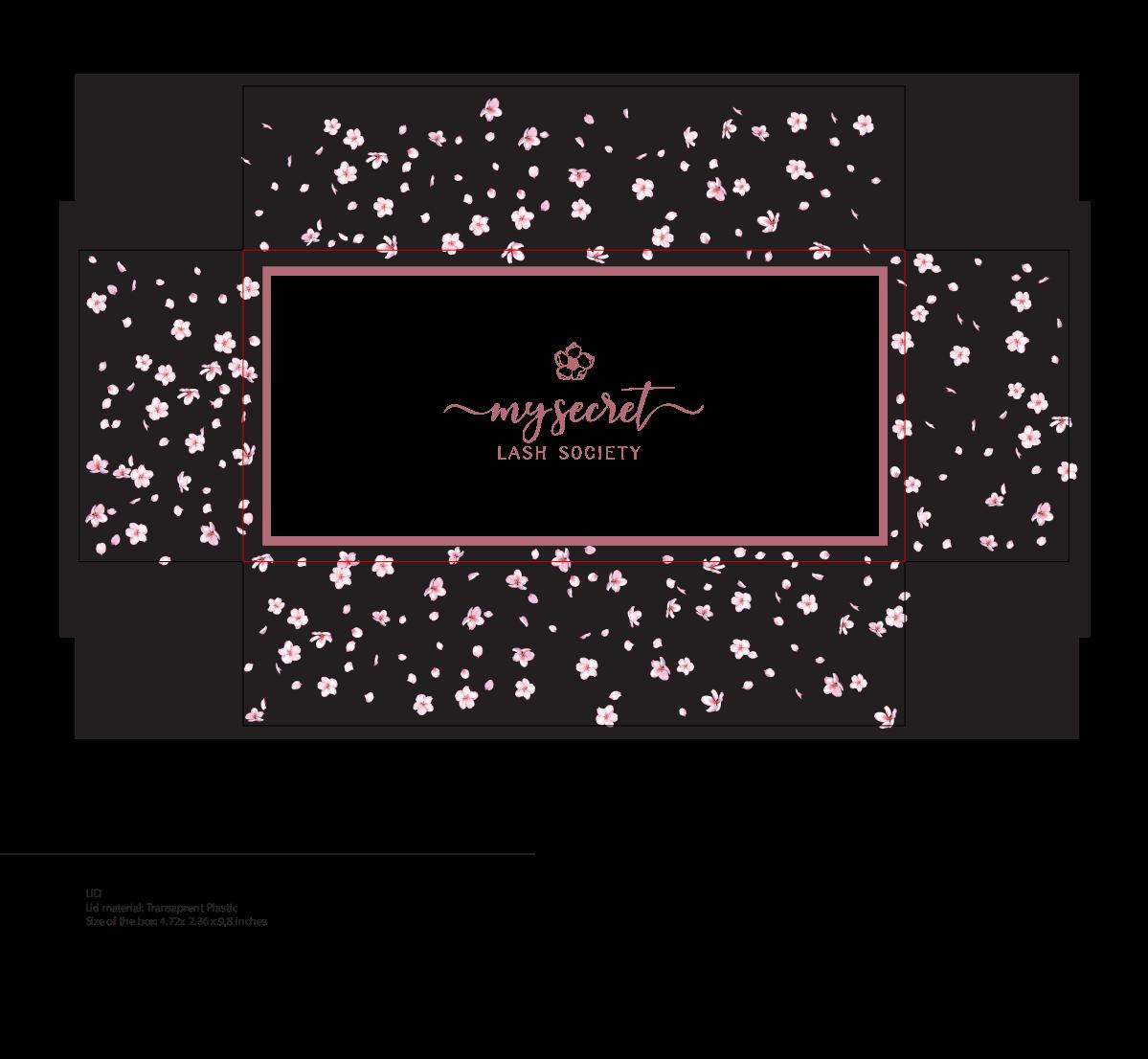 design for lash box packaging