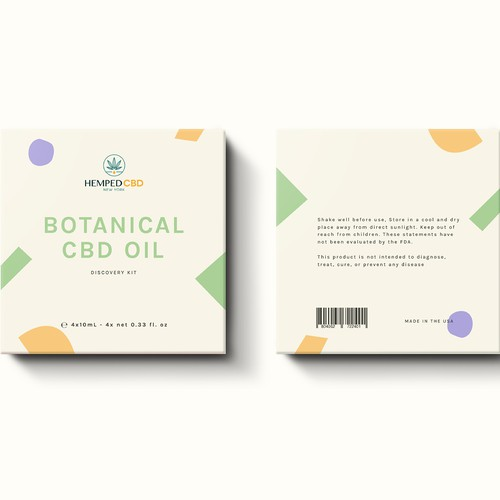 CBD oil kit packaging design