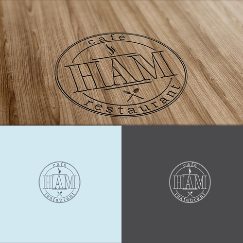 Stylish, imaginative logo and icon design for Hām, West Hampstead bistro — Pinterest board in brief!