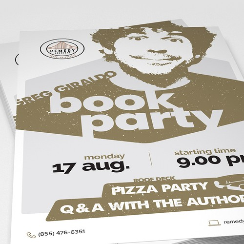 Greg Giraldo Book Party Flyer/Poster