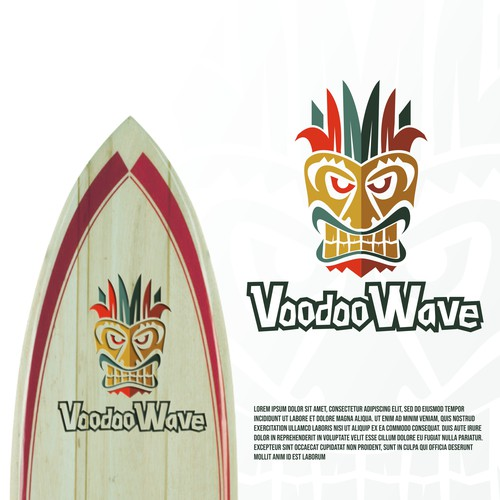 Eyecatching logo for VodooWave the surfing lover apparels