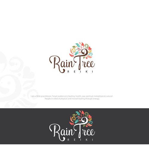 Colorful Logo For Reiki Practitioner