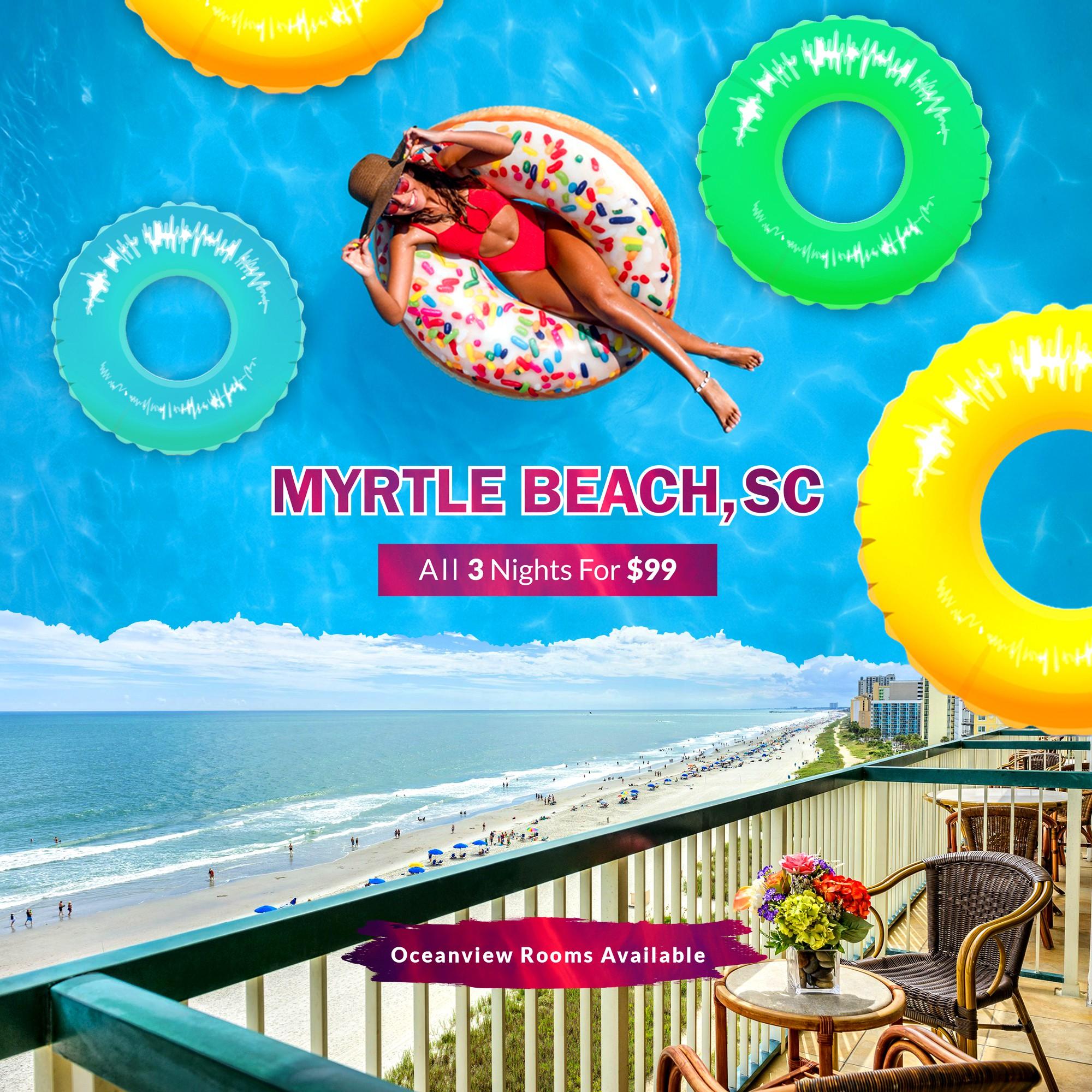 Create a 1:1 Facebook Banner - Myrtle Beach